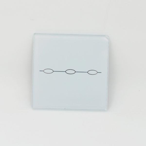 small glasspanel 3gang white
