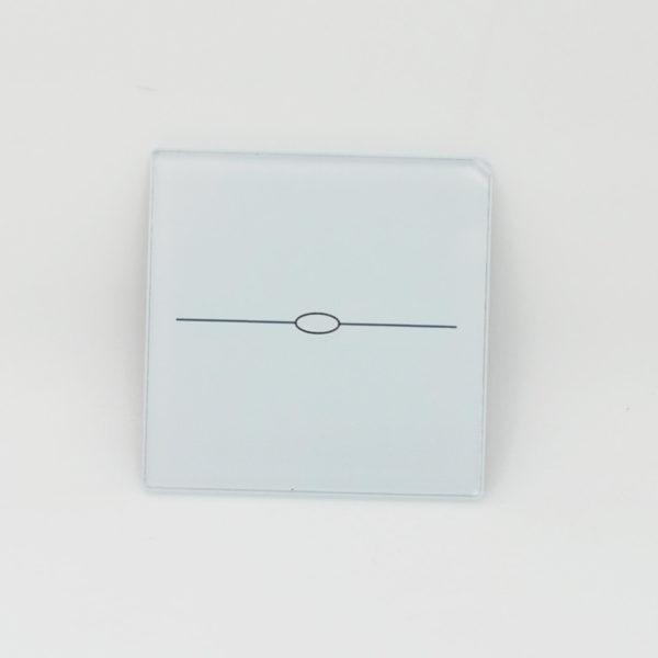 small glasspanel 1gang white