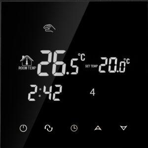 Põrandakütte termostaat  sisseehitatud WIFI mooduliga, 16A, must, 86*86mm