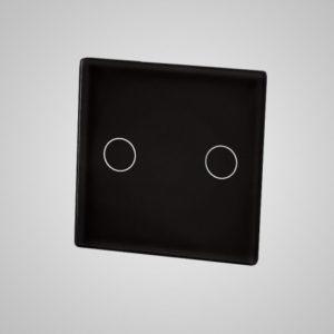 Väike klaaspaneel, kaks ahelat (Klaas- ja alumiiniumraamiga lülitile), must, 47*47mm