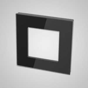 1-Frame glass, Black, 86*86mm