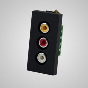 Audio & video slots, melns, 1/2