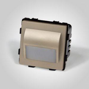 LED valgusti 1W, soe valge, kuldne