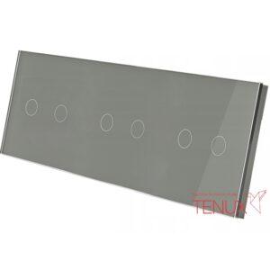 Klaaspaneel lülititele, 2+2+2, Hall, 228*86mm